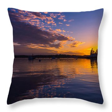 Boothbay Harbor Maine Throw Pillow