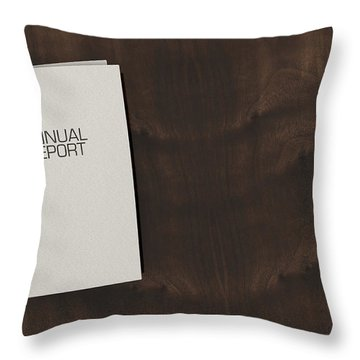Bound Annual Report Booklet Pile Throw Pillow