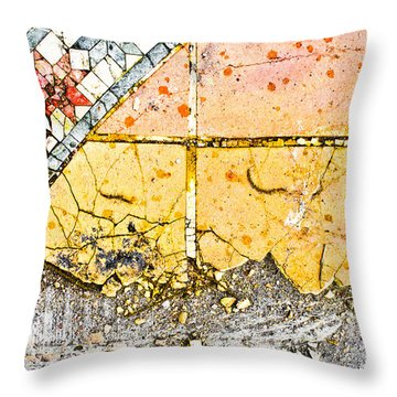 Broken Tiles Throw Pillow