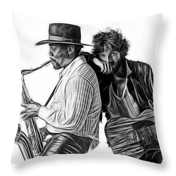 Bruce Springsteen Clarence Clemons Collection Throw Pillow