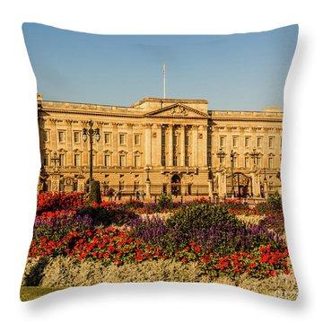 Buckingham Palace, London, Uk. Throw Pillow