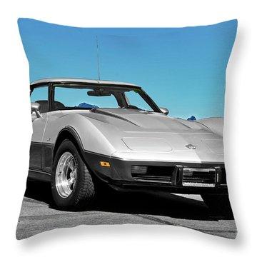 C3 Corvette Stingray Throw Pillow