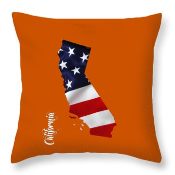 California State Map Collection Throw Pillow by Marvin Blaine