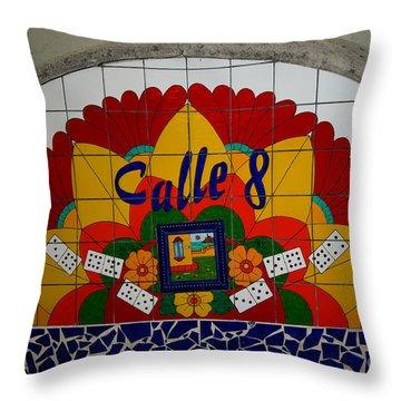 Calle Ocho Cuban Festival Miami Throw Pillow