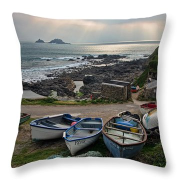 Cape Cornwall Throw Pillow