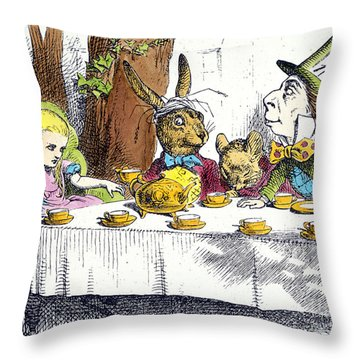 Carroll: Alice, 1865 Throw Pillow by Granger