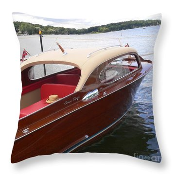 Chris Craft Throw Pillow