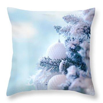 Christmas Tree Border Throw Pillow