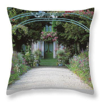 Claude Monet's Garden At Giverny Throw Pillow