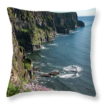 Cliffs Of Moher, Clare, Ireland Throw Pillow