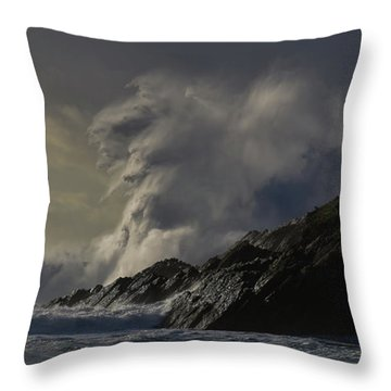 Throw Pillow featuring the photograph Clogher Madness by Barbara Walsh