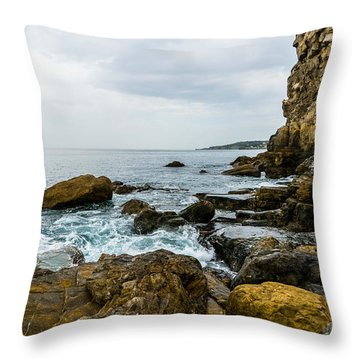 Coastline Of The Bay Throw Pillow