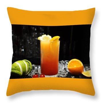 Cocktails Throw Pillow