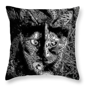 Coconut The Cat Throw Pillow