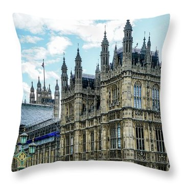 Construction Going On  Throw Pillow