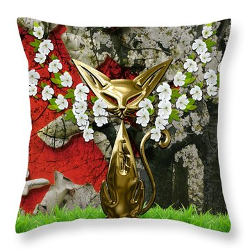 Cool Cat Art Collection Throw Pillow