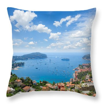 cote dAzur, France Throw Pillow