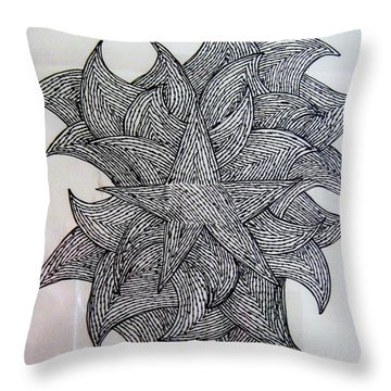 3 D Sketch Throw Pillow