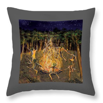 Dancing Naked Cd Cover  Throw Pillow
