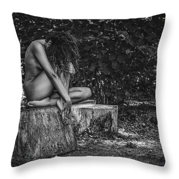 Throw Pillow featuring the photograph Dany by Traven Milovich