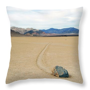 Death Valley Racetrack Throw Pillow