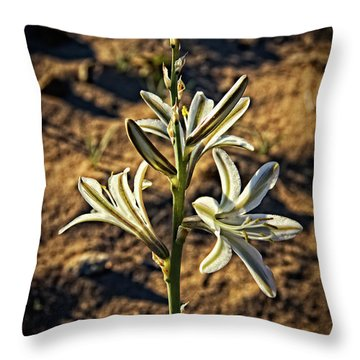 Throw Pillow featuring the photograph Desert Lily by Robert Bales