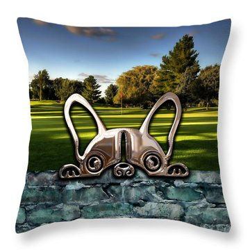 Dog And Landscapes Collection Throw Pillow