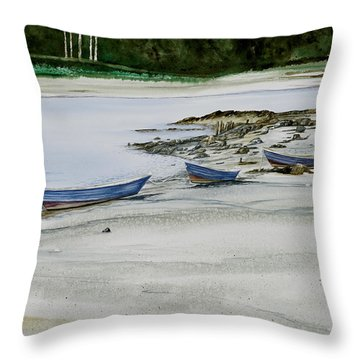 3 Dories Kennebunkport Throw Pillow