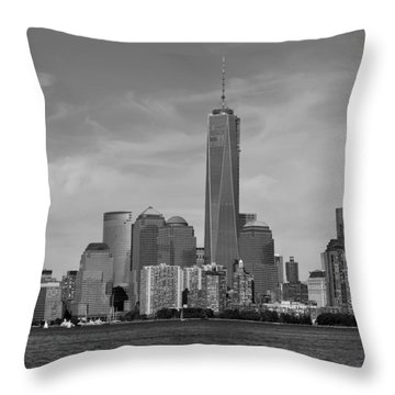 Downtown Manhattn - Freedom Tower Throw Pillow by Yue Wang
