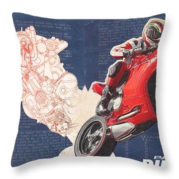 Ducati Panigale Throw Pillow