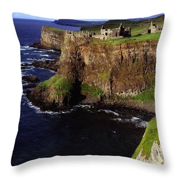 Dunluce Castle, Co. Antrim, Ireland Throw Pillow by The Irish Image Collection