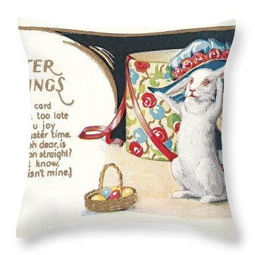 Easter Greetings Throw Pillow by David and Lynn Keller