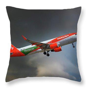 Airbus A320-214 Throw Pillows