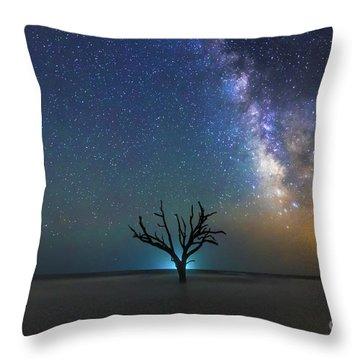 Edisto Island Milky Way Throw Pillow