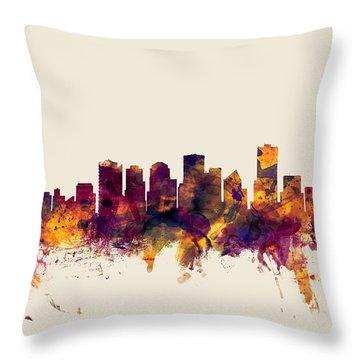 Edmonton Skyline Throw Pillows