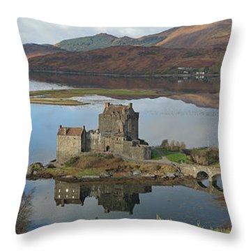 Eilean Donan Castle - Panorama Throw Pillow