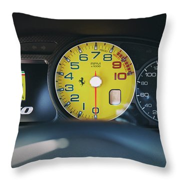 Throw Pillow featuring the photograph #ferrari #599gto #print by ItzKirb Photography