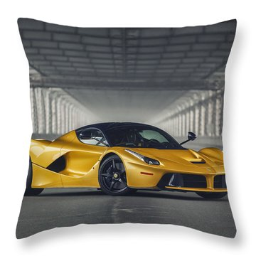#ferrari #laferrari  Throw Pillow