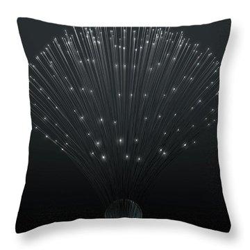 Fiber Optics Close Throw Pillow
