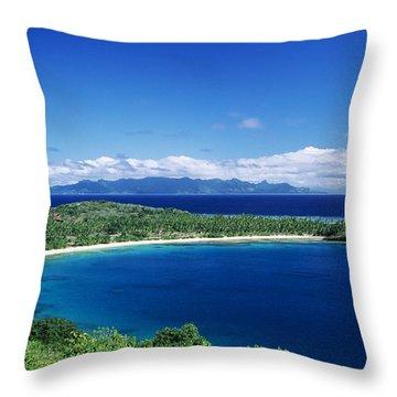 Fiji Wakaya Island Throw Pillow by Larry Dale Gordon - Printscapes
