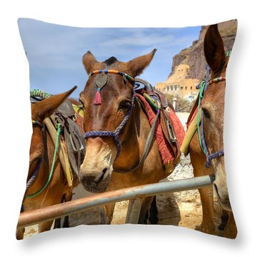 Fira - Santorini Throw Pillow