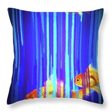 3 Fish Throw Pillow