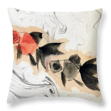 Floating 12030005 2fy Throw Pillow