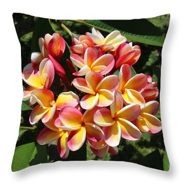 Flowers Throw Pillow by Anthony Jones