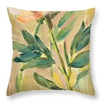 3 Flowers Throw Pillow