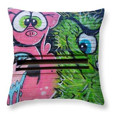 Freak Alley Boise Throw Pillow