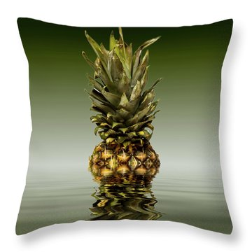 Throw Pillow featuring the photograph Fresh Ripe Pineapple Fruits by David French