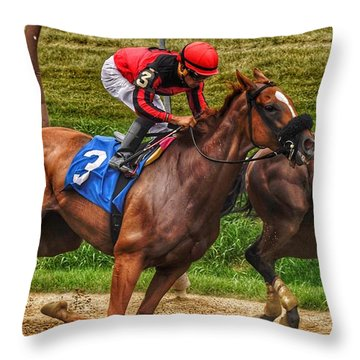3 Gaining Throw Pillow