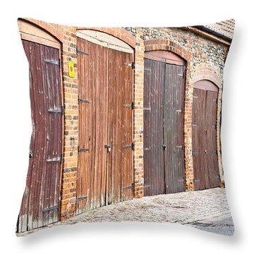 Garage Doors Throw Pillow