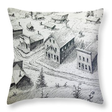 Garnet Ghost Town Montana Throw Pillow by Kevin Heaney